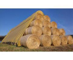 Флис для укрытия соломы, сена, льна